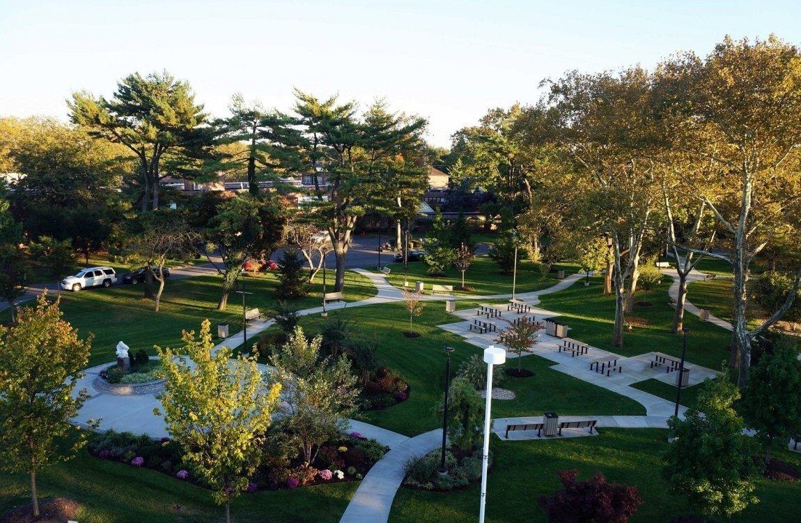 Central-Park-Dusk-Plaza-Walk-Concrete-Tree